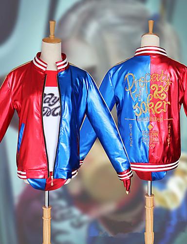 povoljno Maske i kostimi-Inspirirana Suicidalna momčad Harley Quinn Anime Cosplay nošnje Japanski Cosplay Suits Kaput / Top / Rukavice Za Žene / Kratke hlače / T-majica