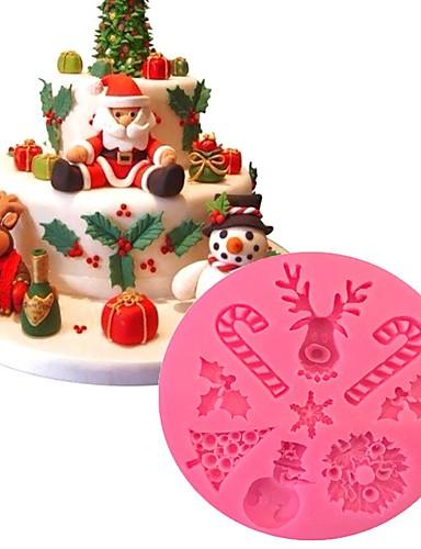povoljno Božićna kupaonica-božićna tema silikonski kalupi za torte ukras za pečenje ukrašavanjediy čokoladni kalup
