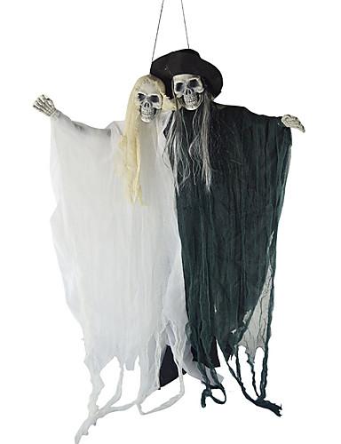 preiswerte Cosplay & Kostüme-Death Grell Sutcliff Cosplay Kostüme Maskerade Erwachsene Paar Cosplay Halloween Halloween Fest / Feiertage Polyester Schwarz Paar Karneval Kostüme
