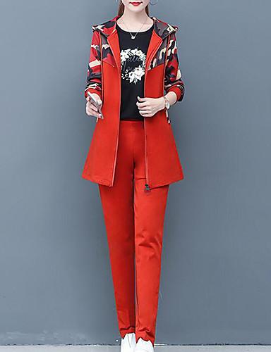 billige Todelt dress til damer-Dame Gatemote Sett Bukse - Trykt mønster, Fargeblokk