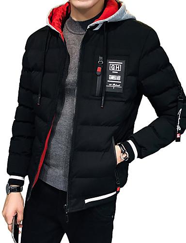 levne Pánské módní oblečení-Pánské Jednobarevné Standardní S vycpávkou, Polyester Černá / Rubínově červená / Hnědá US32 / UK32 / EU40 / US34 / UK34 / EU42 / US36 / UK36 / EU44