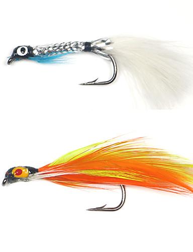 preiswerte Angelvergnügen mit der Familie-8 pcs Fliegen Fliegen sinkend Bass Forelle Pike Fliegenfischen Metal