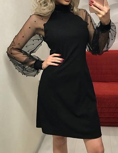 cheap Romantic Lace Dresses-Women's Sheath Dress - Solid Colored Lace Black Blushing Pink Royal Blue S M L XL