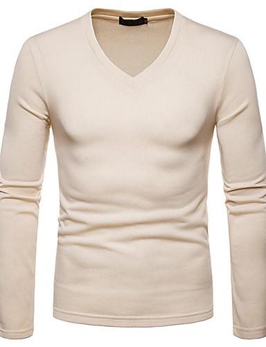 levne Pánská tílka-Pánské - Jednobarevné Vintage / Základní Tričko Černá