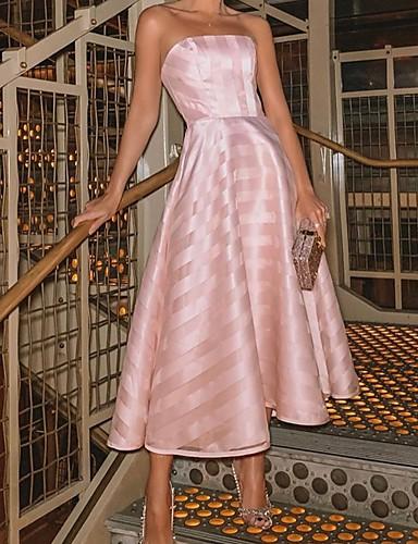 Жен. С летящей юбкой Платье - Однотонный Ассиметричное