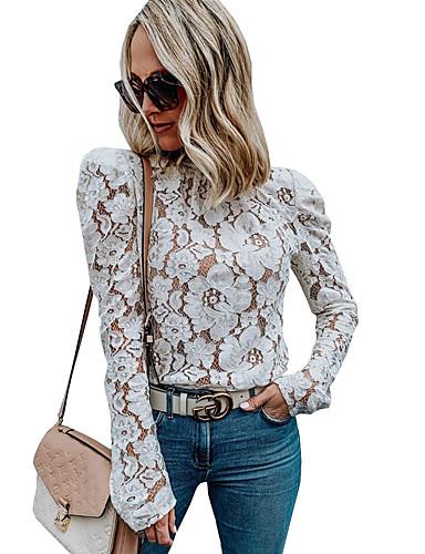 billige Skjorter til damer-Skjorte Dame - Ensfarget, Blonde Gatemote Hvit