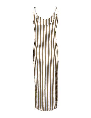 levne Maxi šaty-Dámské Swing Šaty Maxi Ramínka