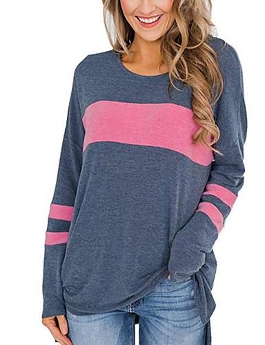 billige T-skjorter til damer-T-skjorte Dame - Stripet Svart