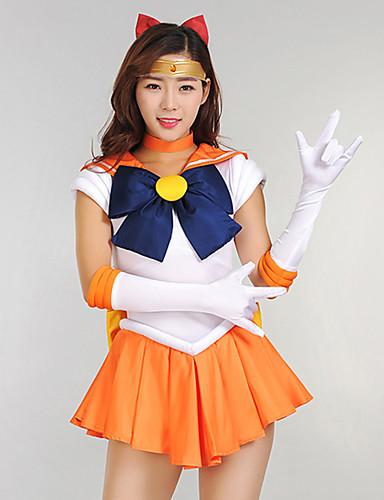 povoljno Maske i kostimi-Inspirirana Sailor Moon školarke Anime Cosplay nošnje Japanski Cosplay Suits / Dresses Haljina / Rukavice / Luk Za Žene / Šeširi / Neckwear