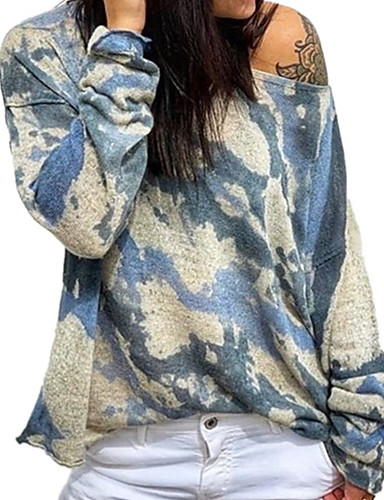 billige Dametopper-T-skjorte Dame - Kamuflasje, Lapper Lilla