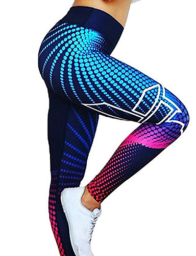 cheap Massive Clearance Sale-Women's High Waist Yoga Pants Winter 3D Digital Print Dark Grey Black / Silver Red / White Golden White / Black Spandex Running Fitness Gym Workout Tights Leggings Sport Activewear Quick Dry Butt