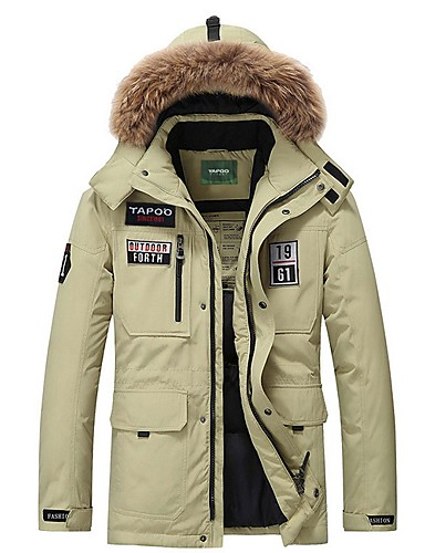 levne Pánské kabáty a parky-Pánské Písmeno S vycpávkou, Polyester Černá / Fialová / Khaki US32 / UK32 / EU40 / US34 / UK34 / EU42 / US36 / UK36 / EU44