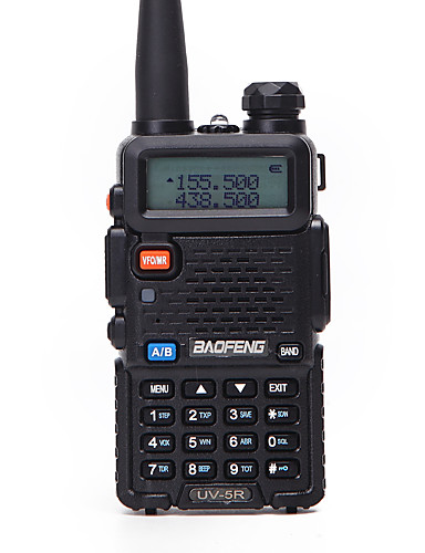 preiswerte Schutz & Sicherheit-1 stücke baofeng uv-5r funksprechgerät uhf vhf tragbare cb amateurfunkstation amateur polizeiscanner radio intercome hf transceiver uv5r kopfhörer