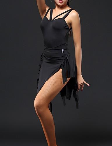hesapli Latin Dans Giysileri-Latin Dansı Elbise Püsküllü Kadın's Performans Polyester