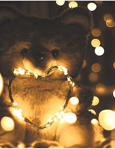 preiswerte Dekorationen-5m Leuchtgirlanden 50 LEDs SMD 0603 Warmes Weiß / Weiß / Mehrfarbig Wasserfest / Party / Dekorativ Batterien angetrieben 1pc