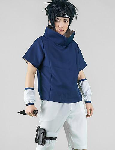 povoljno Maske i kostimi-Inspirirana Naruto Uchiha Sarada Anime Cosplay nošnje Japanski Cosplay Suits / Cosplay Tops / Bottoms Top / Hlače / Rukavi Za Muškarci