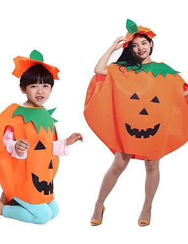 preiswerte Spielzeug & Hobby Artikel-Kürbis Haloween Figuren Kinder Erwachsene Damen Halloween Halloween Fest / Feiertage Polyesterfaser Orange Damen Karneval Kostüme