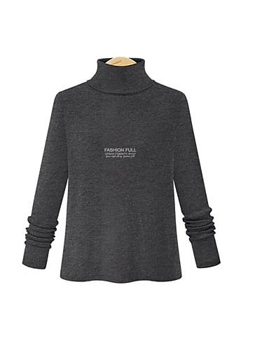 billige Skjorter til damer-Skjorte Dame - Ensfarget Grunnleggende Svart