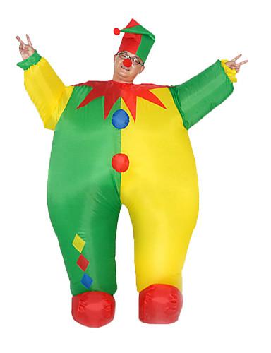 preiswerte Spielzeug & Hobby Artikel-Ringer Clown Aufblasbare Kostüme Erwachsene Herrn Halloween Halloween Fest / Feiertage Rayon / Polyester Gelb Herrn Damen Karneval Kostüme / Gymnastikanzug / Einteiler / Zusätzliche Batteriekasten