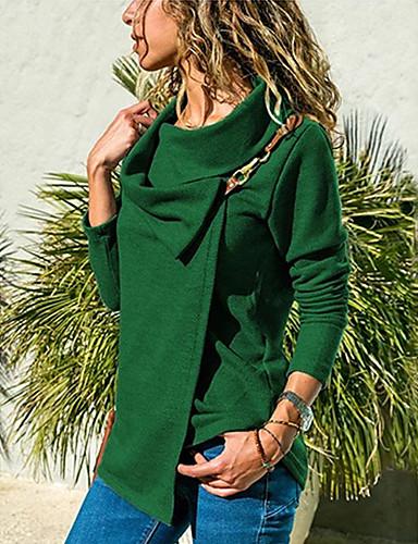 levne Dámské blejzry a bundy-Dámské - Jednobarevné Větší velikosti Tričko Košilový límec Fialová
