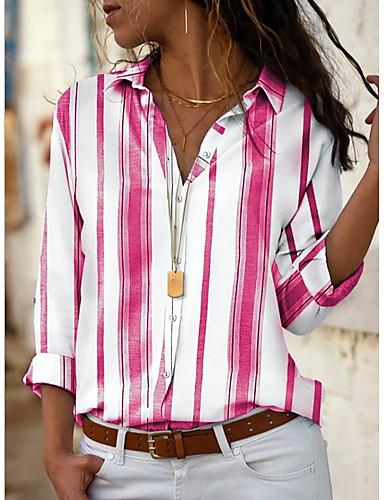 billige Dametopper-Skjorte Dame - Stripet Gul