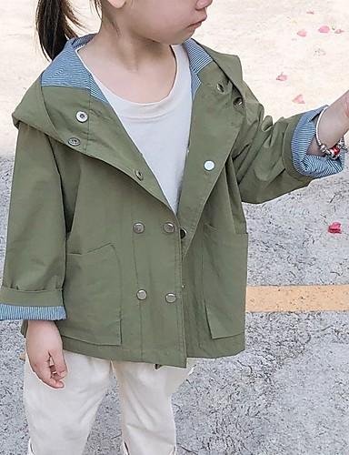 Gyerekek Lány Utcai sikk Egyszínű Zakó és dzseki Sárga