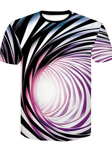 voordelige Heren T-shirts & tanktops-Heren T-shirt Geometrisch Paars