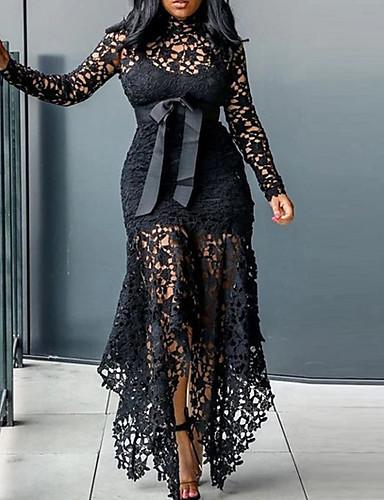 voordelige Grote maten jurken-Dames Standaard Schede Jurk - Effen Maxi