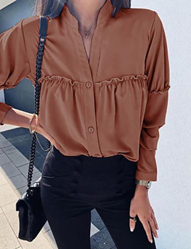billige Skjorter til damer-Skjorte Dame - Ensfarget Svart