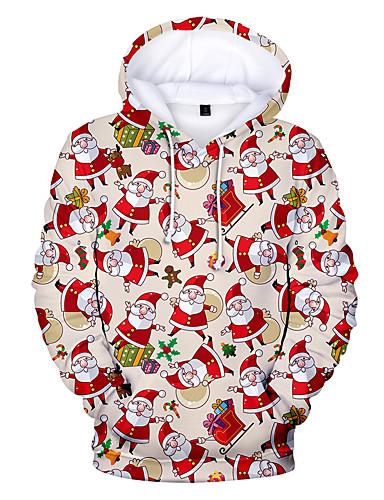 billige Dametopper-Dame Store størrelser Fritid / Jul Hattetrøje Geometrisk / 3D