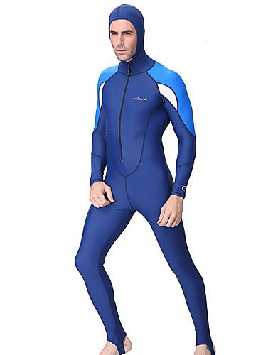 Dive&Sail สำหรับผู้ชาย ดำน้ำที่เหมาะกับสภาพผิว 1mm Elastane Rash Guard กันน้ำ รักษาให้อุ่น การป้องกันรังสียูวี แขนยาว การว่ายน้ำ การดำน้ำ Snorkeling ลายต่อ / ระบายอากาศ / แห้งเร็ว / ระบายอากาศ