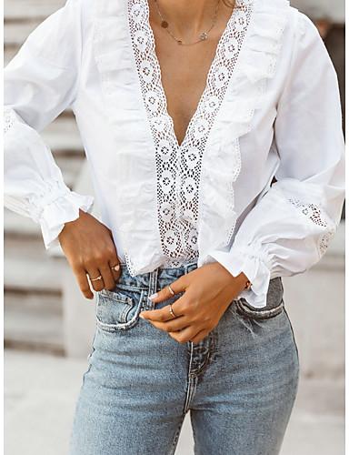 billige Dametopper-T-skjorte Dame - Ensfarget, Blonde Grunnleggende Svart