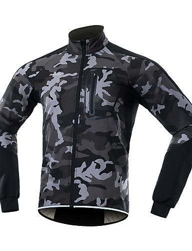 povoljno Odjeća za vožnju biciklom-BERGRISAR Muškarci Biciklistička jakna Bicikl Zima Flis jakne Sportski Spandex Zima Crn / žuta / Zelen Odjeća Obična Odjeća za vožnju biciklom / Mikroelastično