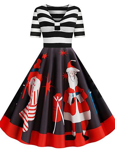 preiswerte Halloween- und Faschingskostüme-Santa Anzüge Kleid Erwachsene Damen Weihnachten Weihnachten Weihnachten Fest / Feiertage Elasthan Polyester Schwarz Damen Karneval Kostüme Weihnachten