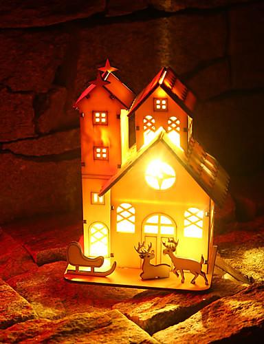 preiswerte Neue im Sortiment-Urlaubsdekoration Weihnachtsdeko Weihnachtsbeleuchtung / Weihnachten / Weihnachtsschmuck LED-Lampe / Dekorativ / Neuartige Weiß 1pc