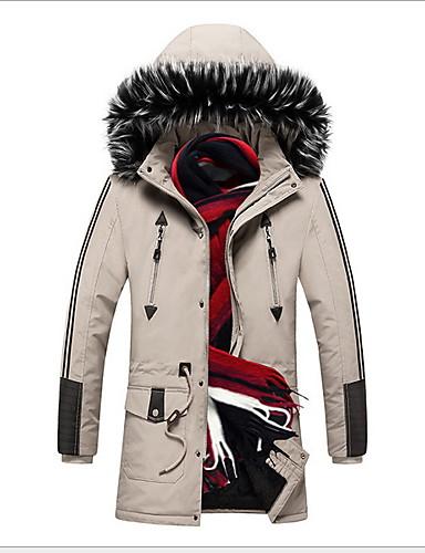levne Pánské kabáty a parky-Pánské Jednobarevné S vycpávkou, Polyester Armádní zelená / Khaki US36 / UK36 / EU44 / US38 / UK38 / EU46 / US40 / UK40 / EU48