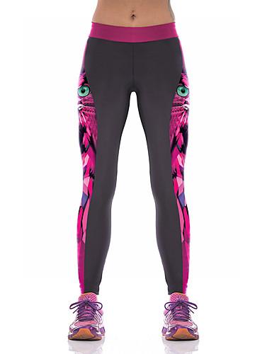 povoljno Odjeća za fitness, trčanje i jogu-Žene Hlače za jogu 3D ispis Elastan Fitness Trening u teretani Tajice Odjeća za rekreaciju Prozračnost Ovlaživanje Quick dry Butt Lift Visoka elastičnost Uske