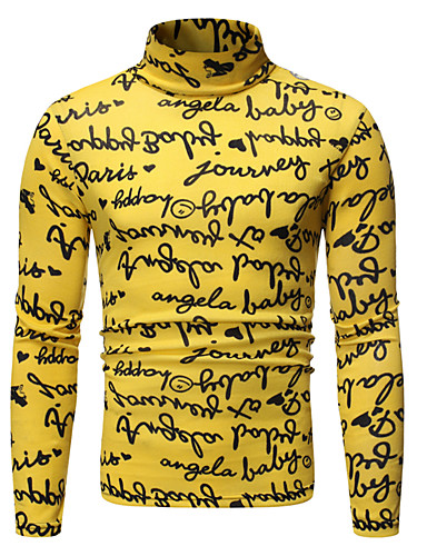 levne Pánská tílka-Pánské - Barevné bloky Základní Tričko Žlutá