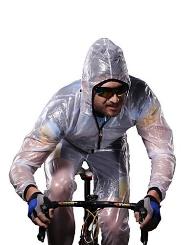 povoljno Odjeća za vožnju biciklom-Acacia Muškarci Žene Biciklistička jakna Bicikl Raincoat Sportska odijela Vodootporno Vjetronepropusnost Prozračnost Sportski Jedna barva Zima Obala / Zelen / Siva Brdski biciklizam biciklom na cesti