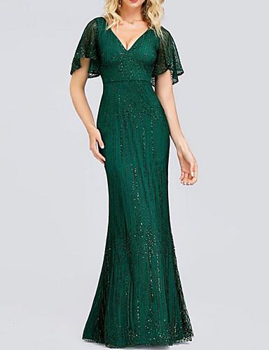 levne Maxi šaty-Dámské Bodycon Šaty - Jednobarevné Maxi