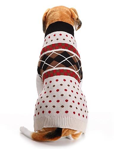 preiswerte Spielzeug & Hobby Artikel-Hunde Pullover Winter Hundekleidung Beige Kostüm Corgi Beagle Shiba Inu Acrylfasern Plaid / Karomuster Gepunktet und karriert XXS XS S M L XL
