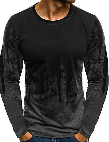 voordelige Heren T-shirts & tanktops-Heren T-shirt Bloemen Wit