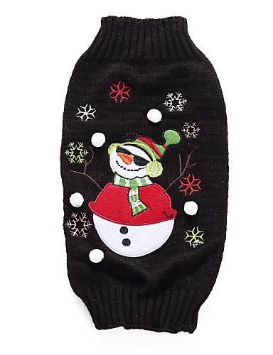preiswerte Spielzeug & Hobby Artikel-Hunde Pullover Winter Hundekleidung Schwarz Kostüm Corgi Beagle Shiba Inu Acrylfasern Zeichen Klassicher Stil Simple Style XS S M L XL