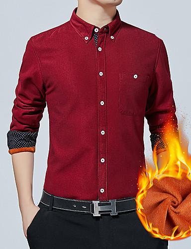 levne Pánské košile-Pánské - Barevné bloky Základní Košile Fialová