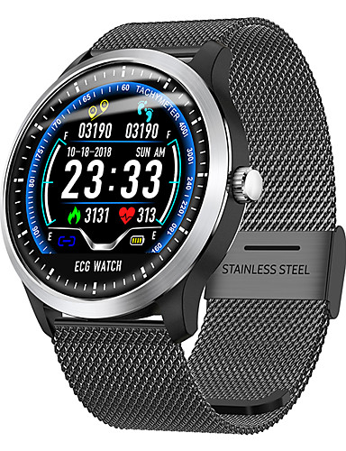 cheap Re11.11-Cool Smartwatches Selling Listing-DN58 Smartwatch Stainless Steel BT Fitness Tracker Support Notify/ ECG/ Blood Pressure Measurement Sports Smart watch for Samsung/ Iphone/ Android Phones