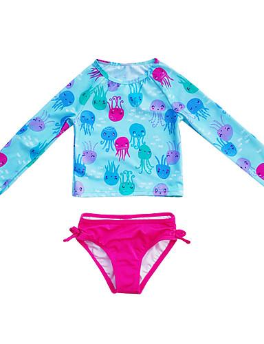 Gyerekek Kisgyermek Lány Aktív aranyos stílus Nyomtatott Nyomtatott Fürdőruha Medence