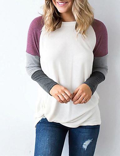 billige T-skjorter til damer-T-skjorte Dame - Rutet Lilla