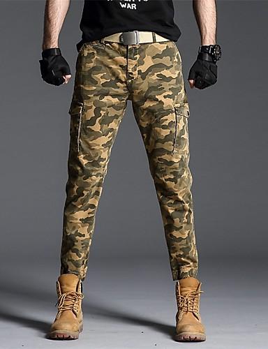 preiswerte Jogginghose-Herrn Sport / Militär Chinos / Jogginghose Hose - Tarnfarben Sportlich Armeegrün Blau Braun US32 / UK32 / EU40 US34 / UK34 / EU42 US36 / UK36 / EU44