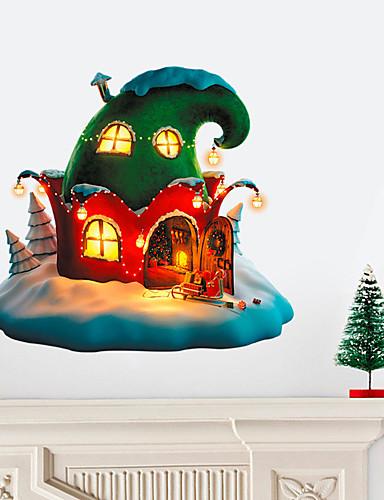 preiswerte Weihnachtswandaufkleber-Dekorative Wand Sticker - Tier Wandaufkleber / Ferien-Wand-Aufkleber Tiere / Weihnachten Wohnzimmer / Schlafzimmer / Küche / Abziehbar / Repositionierbar