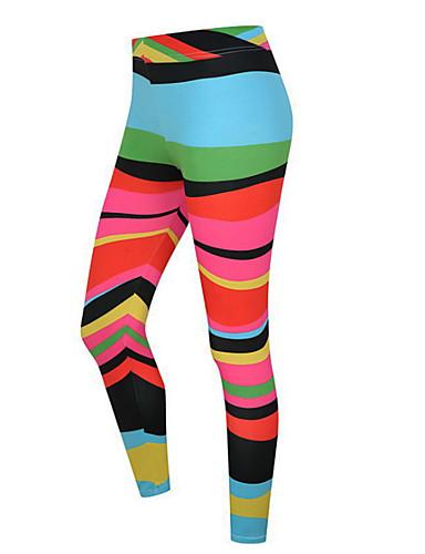 povoljno Vježbanje, fitness i joga-Žene Visoki struk Hlače za jogu 3D ispis Duga žuta Bijela Pink Light Pink Fitness Trening u teretani Biciklizam Hulahopke Tajice Sport Odjeća za rekreaciju Prozračnost Ovlaživanje Butt Lift Kontrola